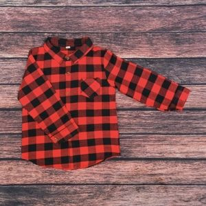 💙 Kids Long Sleeve Plaid Flannel Long Sleeve